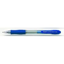 Kuglepen m/klik Super Grip 1,0 blå