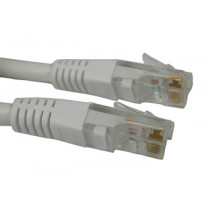 SAVER Network Cat 6 Cable, White (1m)